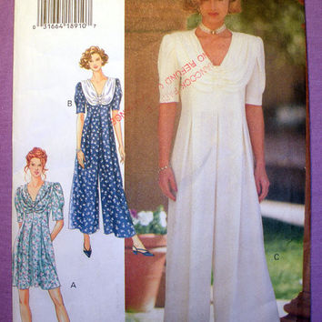 Women's Jumpsuit Misses' Size 6, 8, 10 Butterick 3359 Sewing Pattern Uncut