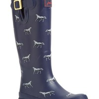 "Women's Joules Print Welly Rain Boot, 1"" heel"