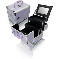 Purple Aluminum Cosmetic Train Case