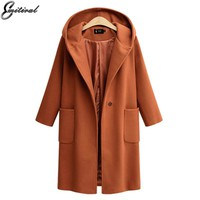 Emitiral Winter Women Wool Coats 2017 Fashion Wool Blends Jackets Warm Female Coats Khaki Casual Plus Size 4XL Overcoat Outwears