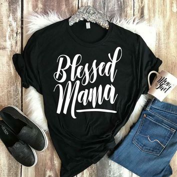 2018 Blessed Mama Bella Canvas T-Shirt