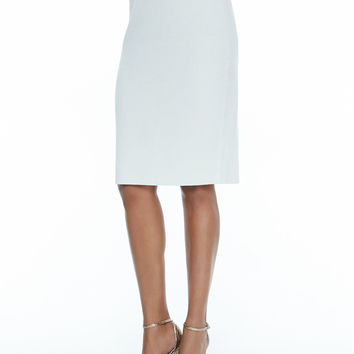 Women's Silk-Cotton Straight Skirt - Eileen Fisher - Bone