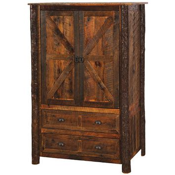 Barnwood Two Drawer Wardrobe
