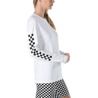 Half Checked Long Sleeve T-Shirt | Shop Womens Tees At Vans