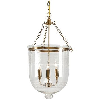 Chelsea House Antique Brass with Glass Decor Pendant