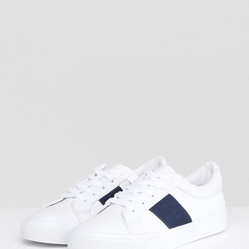 ASOS DINELLA Tape Lace Up Trainers at asos.com