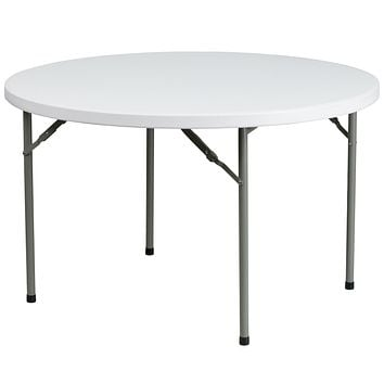 48'' Round Granite Plastic Folding Table