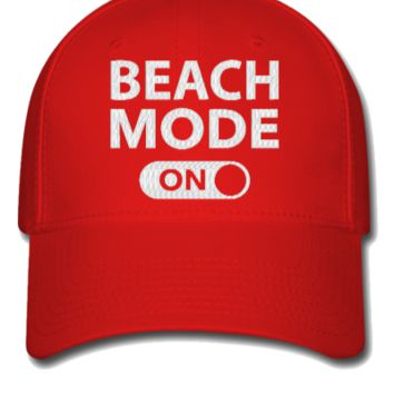 beach mode embroidery - Flexfit Baseball Cap