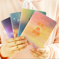 1pcs lot Fantastic Galaxy Star Sky A6 Notebook pocket book Diary Exercise Composition Notepad Gift Stationery