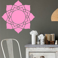 Lotus Flower geometric  Vinyl Wall Decal Sticker Art Decor Bedroom Design Mural yoga interior design
