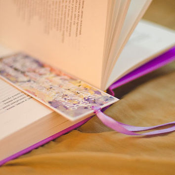 "Custom Buttefly Bookmark with message ""Read books and follow your heart"""