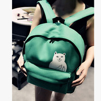 Go Away Cat Backpack - Light Travel or School