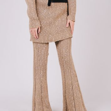 Splash Knitted Flare Pant Co-Ord