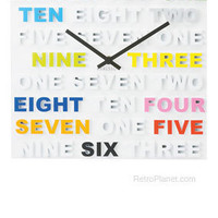 One Two Three Wall Clock | Wall Clocks | RetroPlanet.com