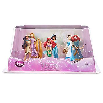 Disney Princess Belle Ariel Figure Play Set Cake Topper Playset 6 pieces New