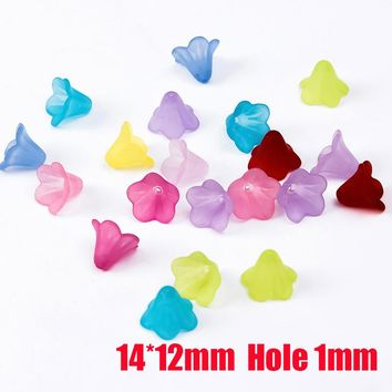 Mixed Acrylic Loose Spacer Frosted Plastic Flower Beads Caps Findings for DIY Fashion Jewelry Necklace Bracelet Making