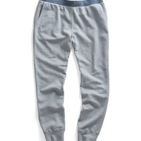 Robinson Sweatpant With Chambray Trim in Grey