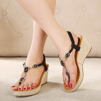 Gladiator sandals women summer wedge shoes woman
