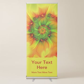 Hot Summer Green Orange Abstract Colorful Art Text Retractable Banner