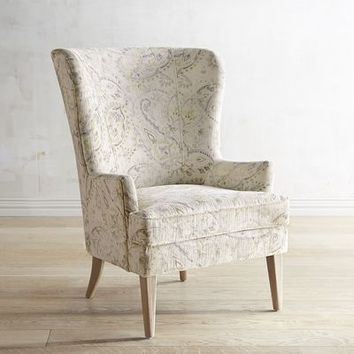 Asher Velvet Paisley Chair