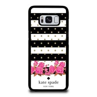 KATE SPADE NEW YORK FLORAL POLKADOTS Samsung Galaxy S3 S4 S5 S6 S7 Edge S8 Plus, Note 3 4 5 8 Case Cover