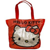 "Hello Kitty 13x12"" Red Sequin Tote Bag"