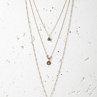 Tasseled Longline Necklace Set