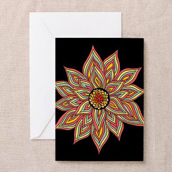 Incandescent Flower Greeting Card | Thank You Card | Birthday Card | Notecard