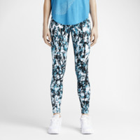 Nike Leg-A-See Mishmash Allover Print Women's Leggings Size XS (Blue)