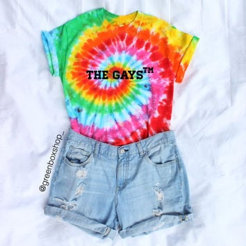 The Gays™ Tie Dye Gay Pride Shirt