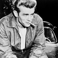 James Dean as Jim Stark in Rebel Without a Cause 24X30 Poster smoking cigarette
