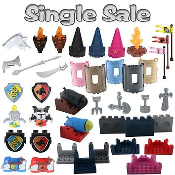 War Princess Castle Military Weapon Knight cannon Large Particle Building Blocks Compatible with Duplo DIY Bricks Baby Toys Gift