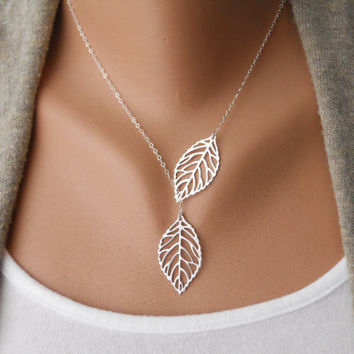 Leaf Lariat by morganprather on Etsy