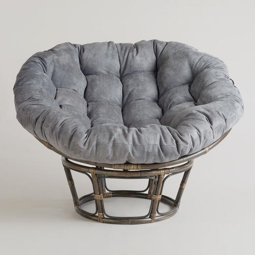 charcoal micro suede papasan chair from cost plus world market. Black Bedroom Furniture Sets. Home Design Ideas
