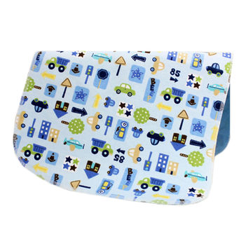 19*27 Inch Lovely Waterproof Breathable Baby Urine Pad-Blue Cars