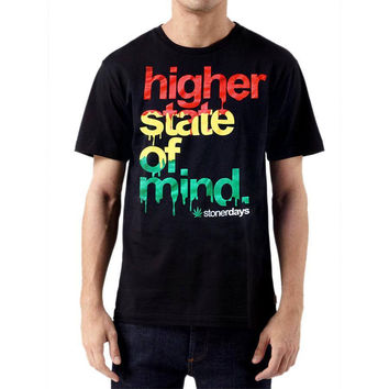 MEN'S RASTA HIGHER STATE OF MIND TEE (SIZE SMALL ONLY )