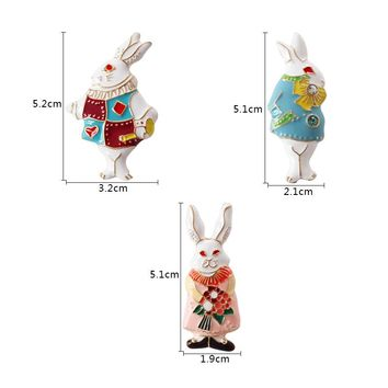Fashion jewelry Alice In Wonderland Mr. Rabbit Miss Stereo Glaze Cute Enamel Brooch Pin For women
