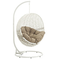 Hide Outdoor Patio Swing Chair White Mocha