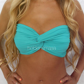 Spandex Bandeau -- Solid Turquoise