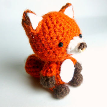 Crochet Animal Crochet Fox Plush | Crochet Animal | Amigurumi Fox | Fox Stuffed Animal | Red Fox Plush | Crochet Amigurumi | Amigurumi