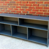 Media Console Cubby Wall System Two Over Three Shabby Cottage Style Bookcase Shipping Included
