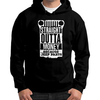 Straight outta jeep parts Gildan Hoodie (on man)