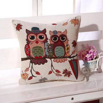 Cartoon Handmade Owl Home Decor Pillow Decorative Throw Pillows Cute Drawing 7