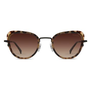 Komono - Billie Tortoise Black Sunglasses / Polarized Revo Lenses