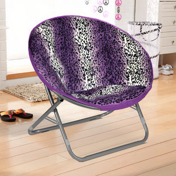 Idea Nuova Rock Your Room Leopard Ombre Faux Fur Saucer Papasam Chair