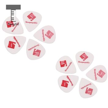 Tooyful 10pcs Guitar Picks Smooth ABS Custom Plectrum for Electric Ukelele Guitar