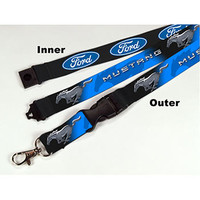 Ford Fan Store - Ford Mustang Sublimated Lanyard/Keychain - Brickel's Racing Collectibles