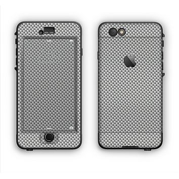 The Gray Carbon FIber Pattern Apple iPhone 6 Plus LifeProof Nuud Case Skin Set