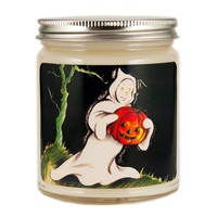 Halloween Ghost Candle, Custom Scented Candle, Vintage Candle, Vintage Halloween Candle, Container Candle, Soy Candle, Halloween Candle
