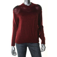 Guess Womens Metallic Embellished Pullover Sweater